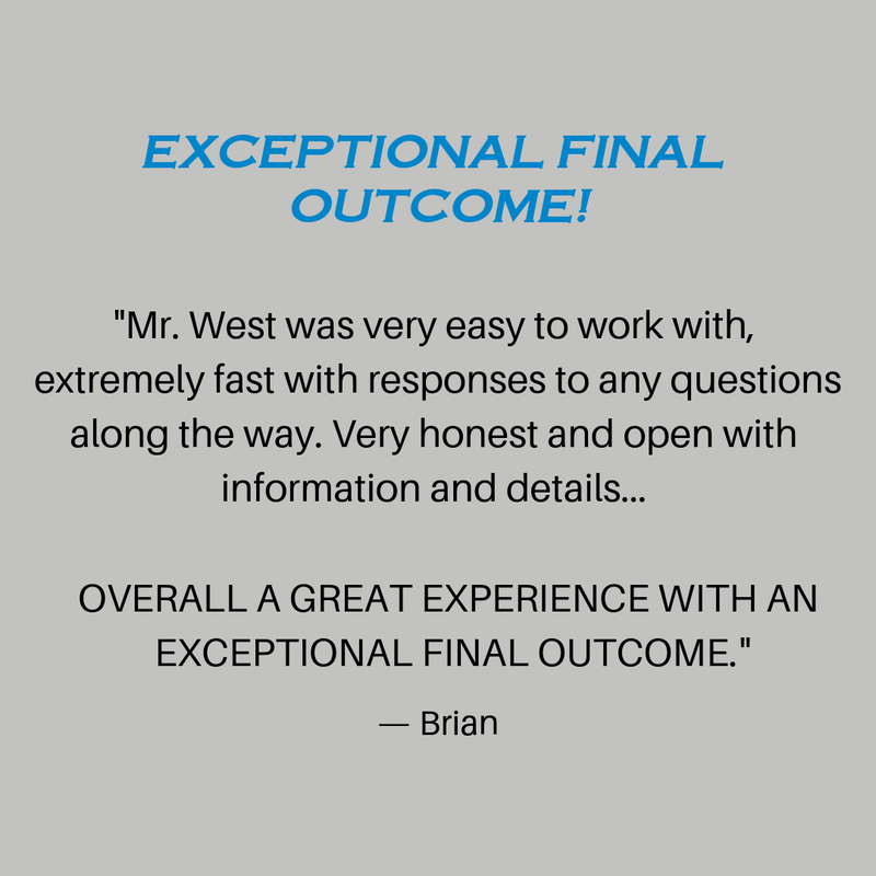 Exceptional Final Outcome by West Construction Review by West Construction client